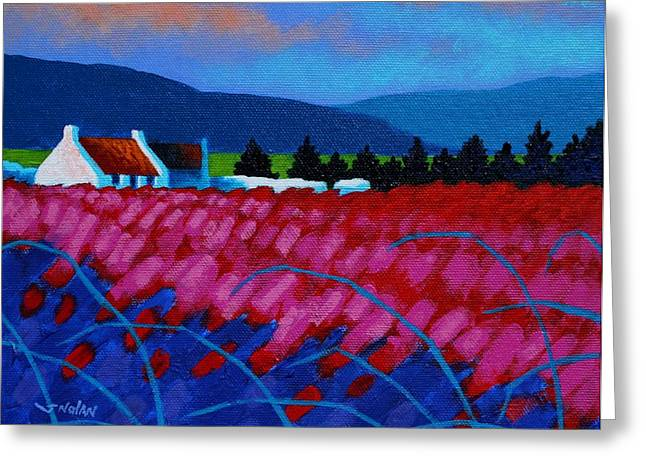 Landscape Posters Greeting Cards - Red Meadow Greeting Card by John  Nolan