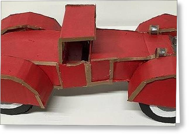 Princes Sculptures Greeting Cards - Red Mercedes SSK Greeting Card by William Douglas