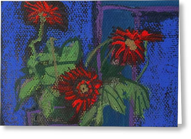 Jo Anne Neely Gomez Paintings Greeting Cards - Red Mini Surprise Greeting Card by Jo Anne Neely Gomez