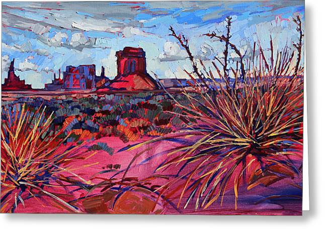 Erin Greeting Cards - Red Monument Greeting Card by Erin Hanson