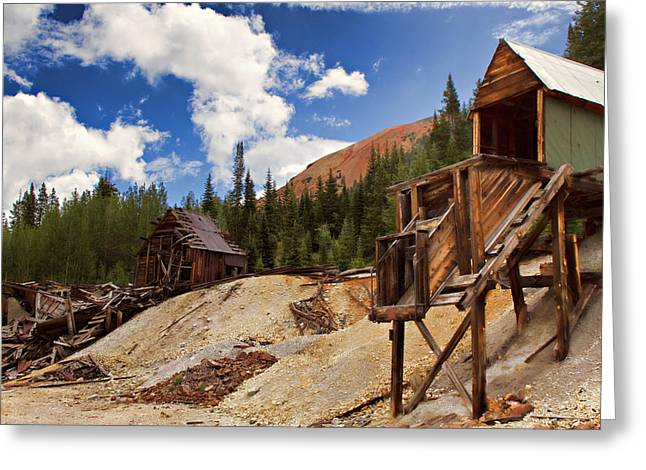 Old Mine Greeting Cards - Red Mountain Mining - The Loader Greeting Card by Lana Trussell