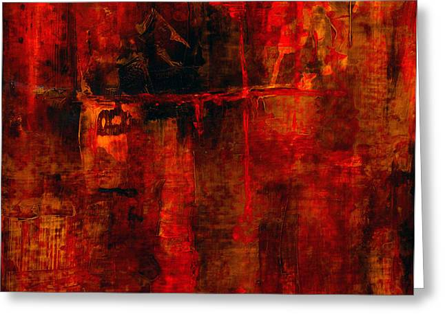 Red Odyssey Greeting Card by Pat Saunders-White