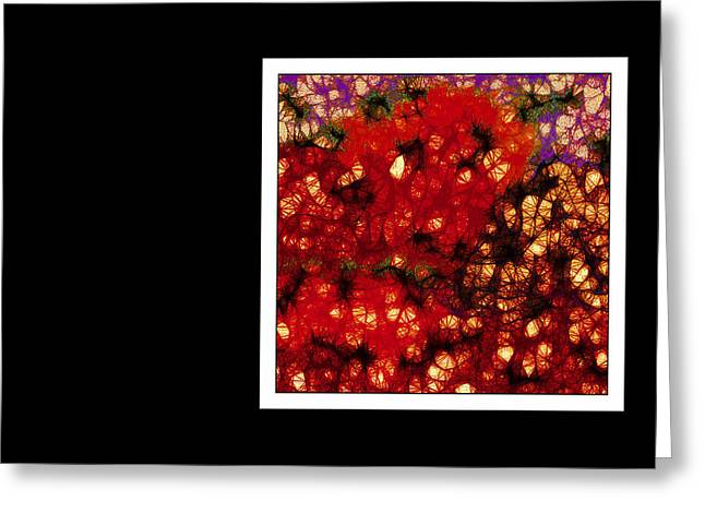 Extreme Restaurant Greeting Cards - Red Offset Greeting Card by Dorothy Berry-Lound