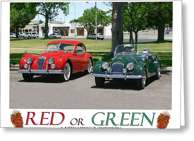 Jaguars Greeting Cards - Red or Green A New Mexico Question Greeting Card by Jack Pumphrey