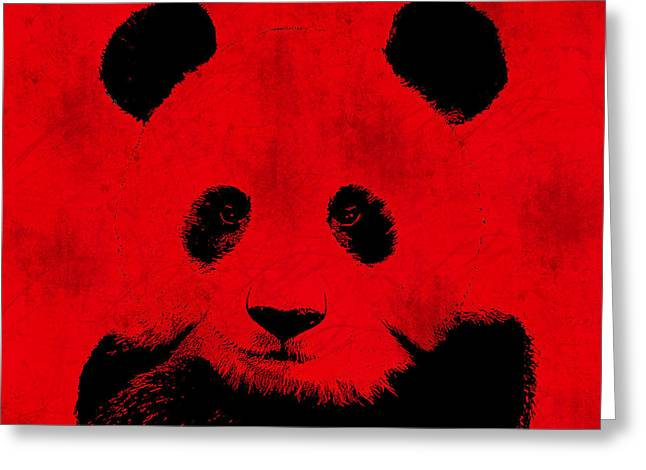 Communism Greeting Cards - Red Panda Greeting Card by Laura Brightwood