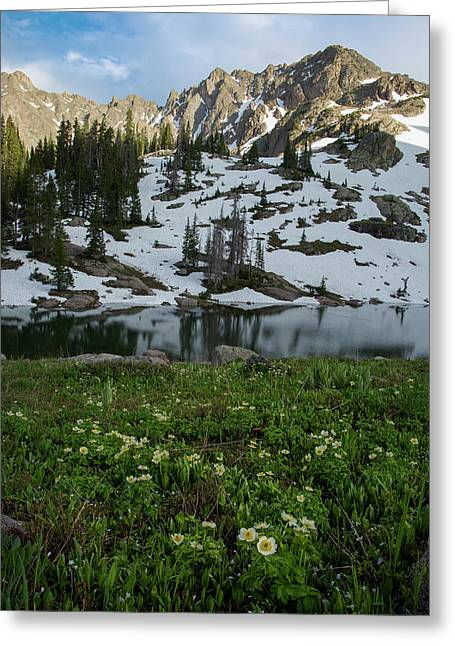 Red Peak And Willow Lake Greeting Card by Aaron Spong