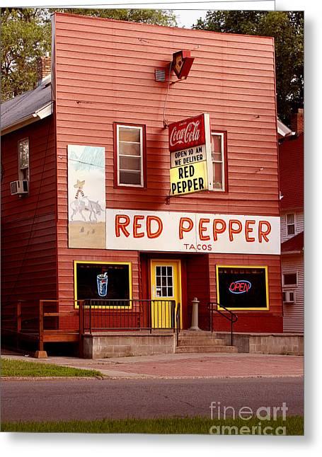 Steve Augustin Greeting Cards - Red Pepper Restaurant Greeting Card by Steve Augustin