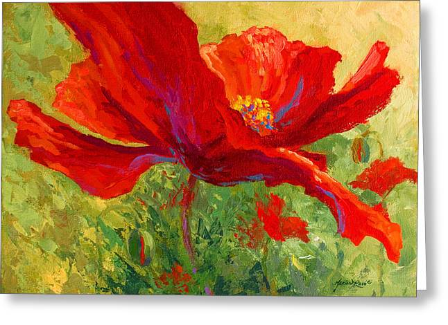 Vineyard Greeting Cards - Red Poppy I Greeting Card by Marion Rose