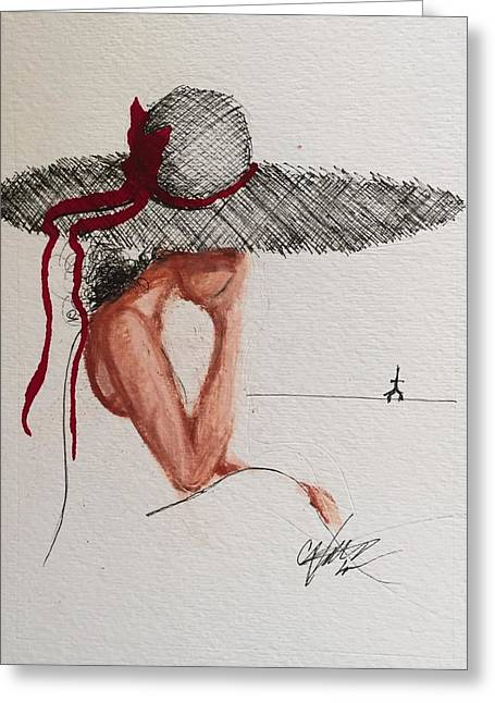 Red Ribbon-the Promise Of Rahab Greeting Card by C F  Legette