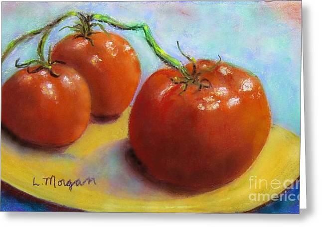Tomato Pastels Greeting Cards - Red Ripe and Ready Greeting Card by Laurie Morgan
