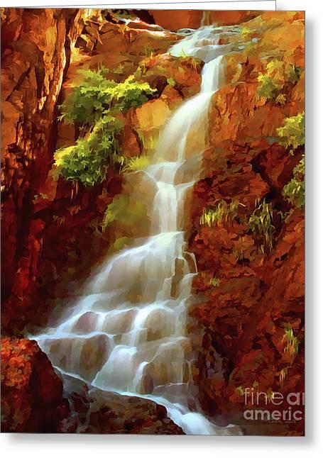 Red River Falls Greeting Card by Peter Piatt