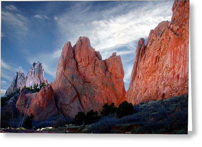 Red Rock Greeting Card by Anthony Jones