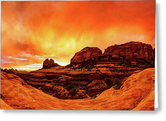 Red Rock Blaze Greeting Card by ABeautifulSky Photography