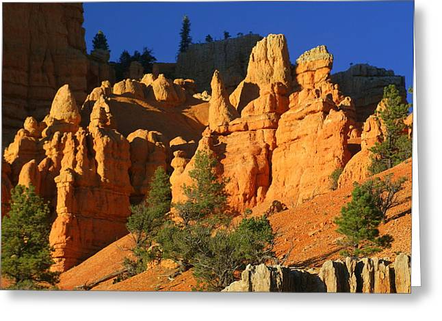 Marty Koch Greeting Cards - Red Rock Canoyon At Sunset Greeting Card by Marty Koch