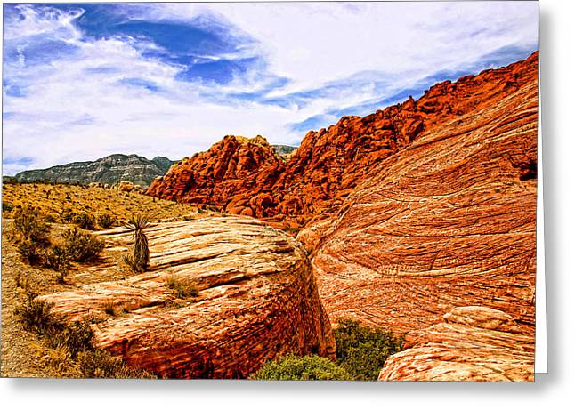 Hdr Landscape Greeting Cards - Red Rock Canyon Nevada Greeting Card by Frank Freni