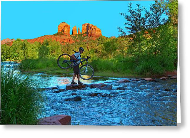 Red Rock Crossing Greeting Cards - Red Rock Crossing Greeting Card by Brian Knott - Forget Me Knott Photography