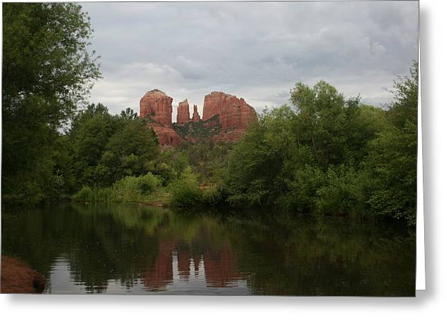 Oak Creek Greeting Cards - Red Rock Crossing Greeting Card by Grant Washburn