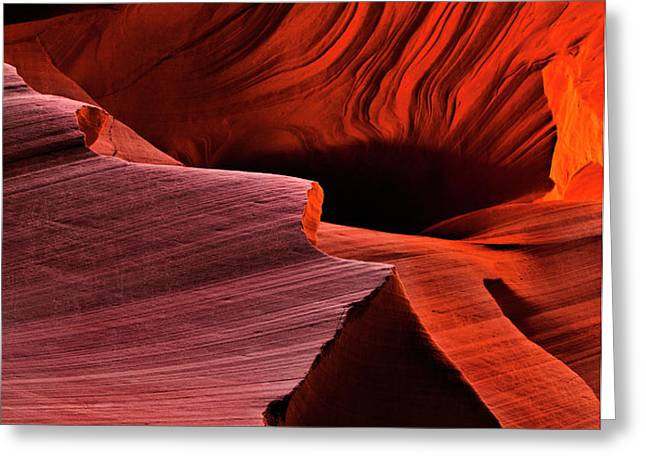 Red Rock Inferno Greeting Card by Mike  Dawson