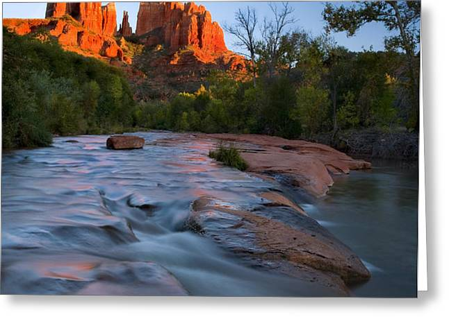 Red Rock Sunset Greeting Card by Mike  Dawson