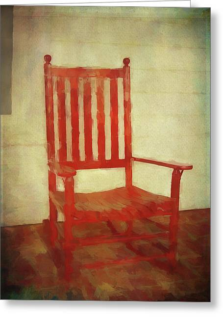 Red Rocker Greeting Card by Bellesouth Studio