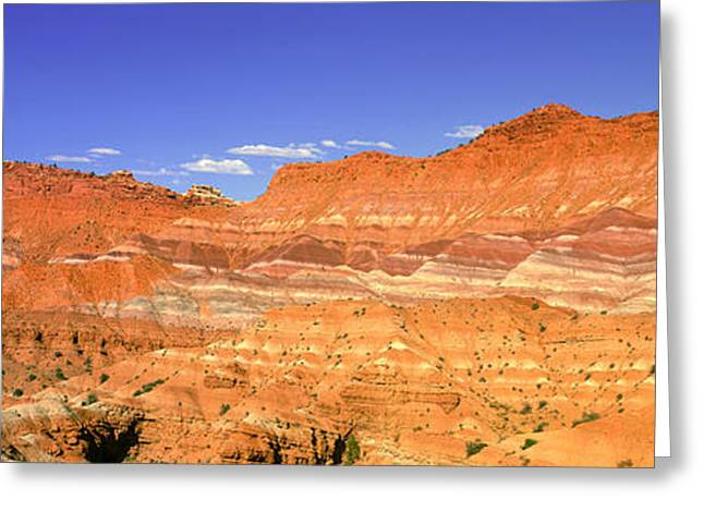 Red Rocks At Old Movie Set, Vermillion Greeting Card by Panoramic Images