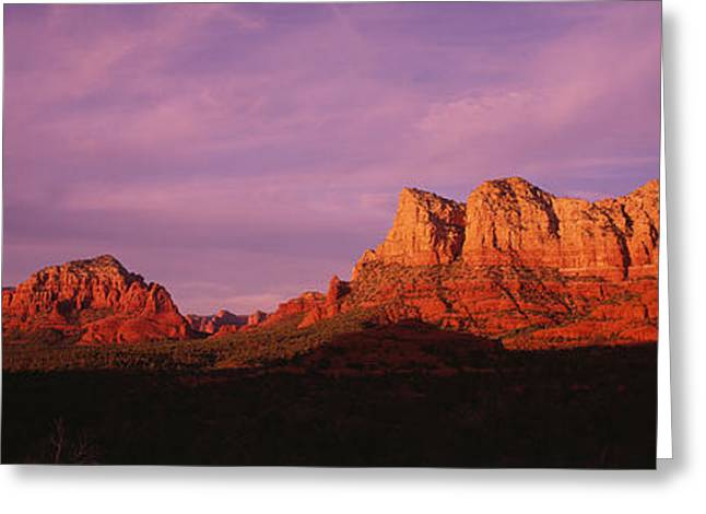 Red Rocks Country, Arizona, Usa Greeting Card by Panoramic Images