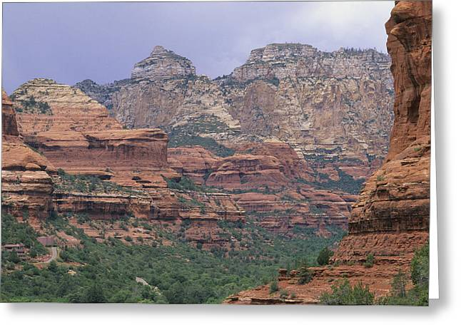 Geological Formations Greeting Cards - Red Rocks Of Boynton Canyon Greeting Card by Rich Reid
