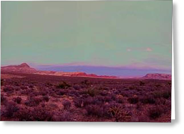 Scenic Drive Greeting Cards - Red Rocks Panorama Greeting Card by Chris Anthony