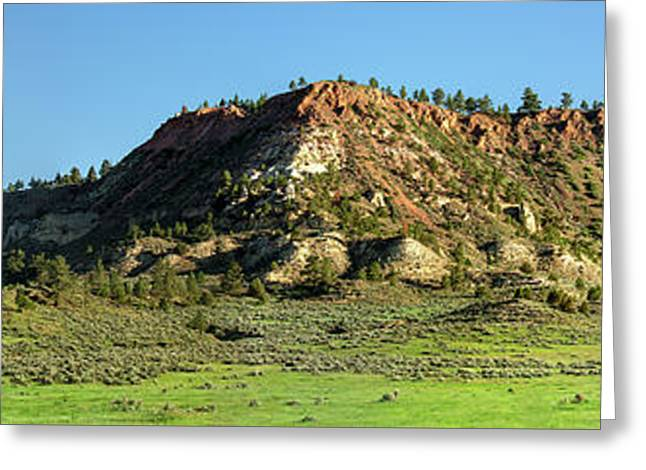 Red Roof Butte Greeting Card by Todd Klassy