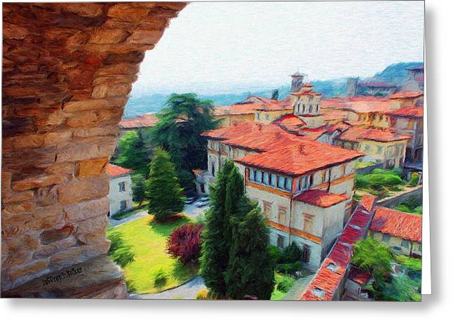 Citta Alta Greeting Cards - Red Roofs Greeting Card by Jeff Kolker