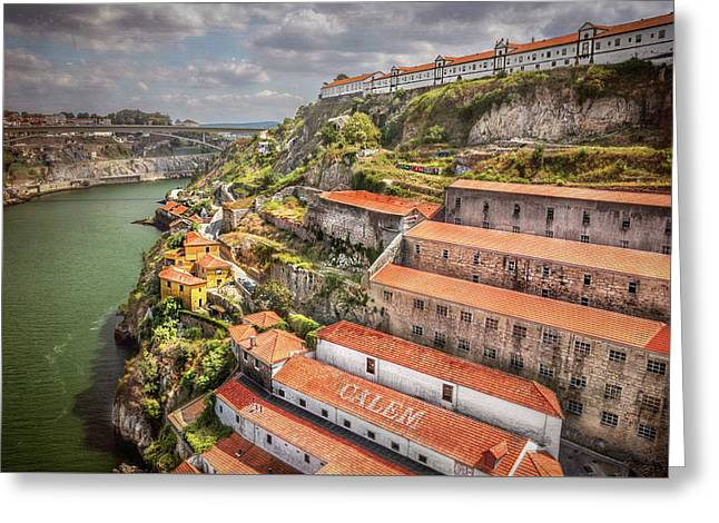 River View Greeting Cards - Red Roofs of Porto Greeting Card by Carol Japp