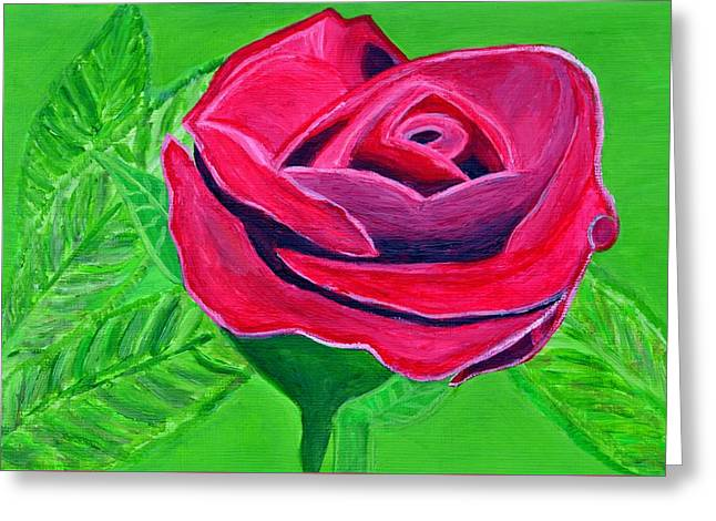 Red Rose 2 Greeting Card by Magdalena Frohnsdorff