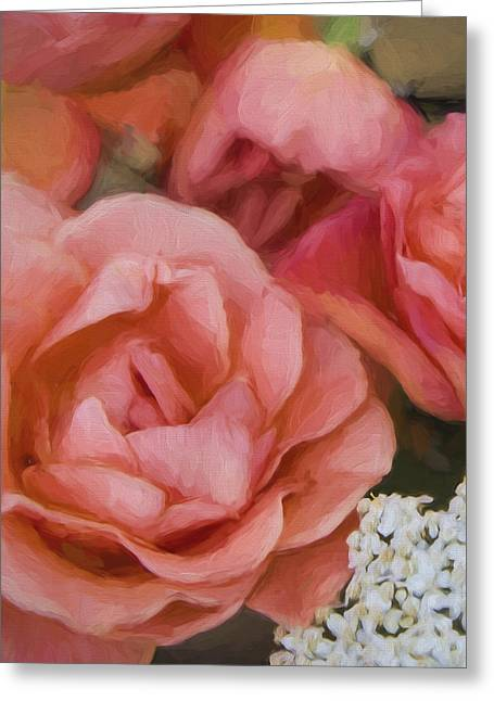 Cindy Grundsten Greeting Cards - Red roses Greeting Card by Cindy Grundsten