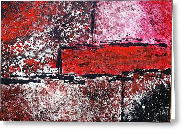 Red Rum Greeting Card by Denise Deskin