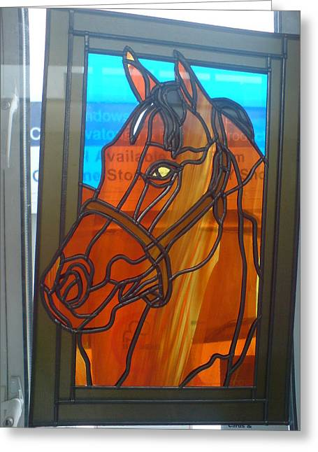Ponys Glass Greeting Cards - Red Rum Greeting Card by Robin Jeffcoate