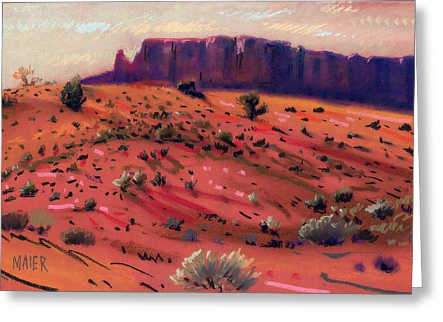 Park Pastels Greeting Cards - Red Sand Greeting Card by Donald Maier