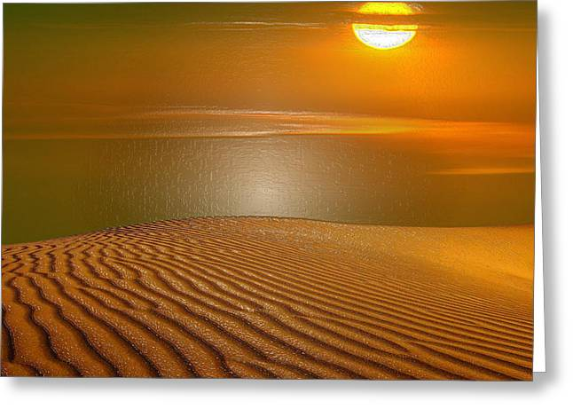 Sahara Sunlight Greeting Cards - Red Sands Greeting Card by Scott Mendell