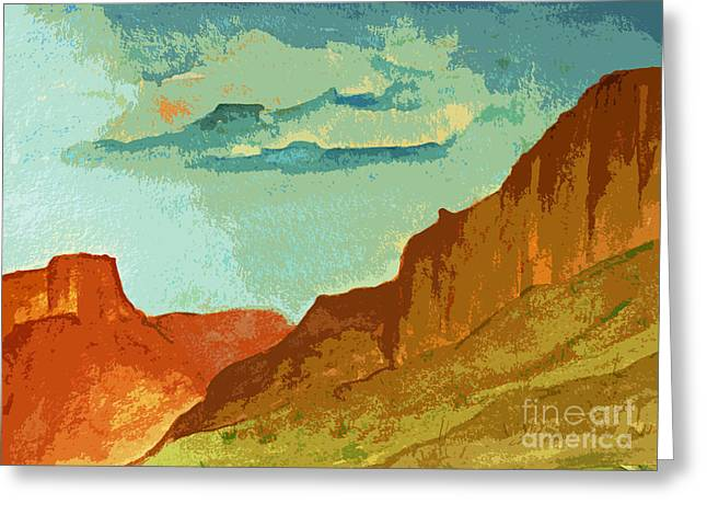 Red Photographs Paintings Greeting Cards - Red Sedona Greeting Card by Julie Lueders