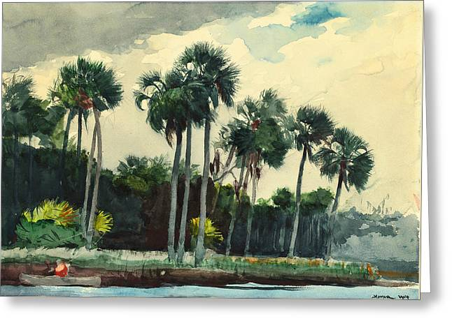 Red Shirt Homosassa Florida Greeting Card by Winslow Homer