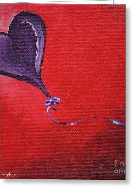 Kite Greeting Cards - Red Skies Greeting Card by Susan Herber