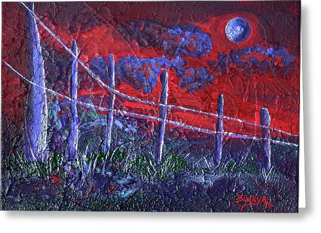 Red Sky Tonight Greeting Card by Donna Blackhall