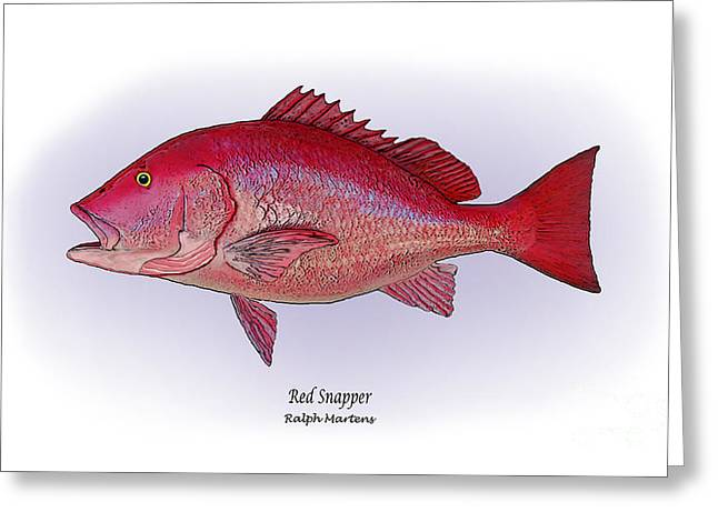Red Snapper Greeting Cards - Red Snapper Greeting Card by Ralph Martens