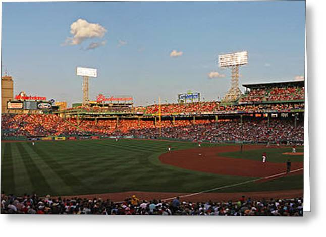 Fenway Park Greeting Cards - Red Sox Yankees Rivalry Greeting Card by Juergen Roth