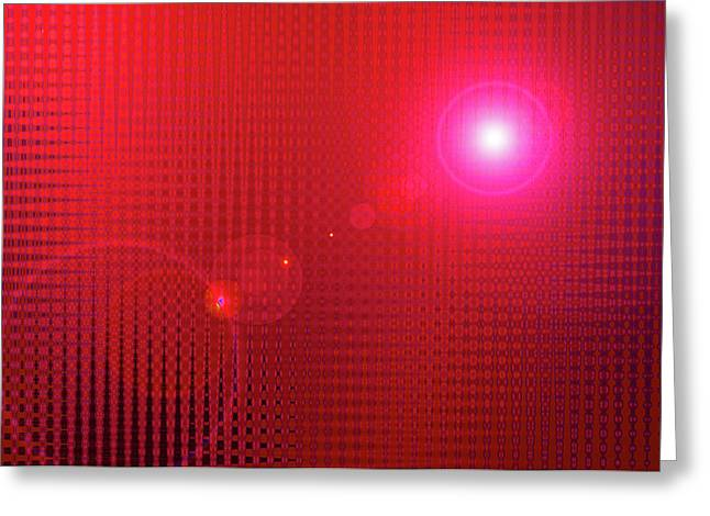 Basis-chakra Greeting Cards - Red Space Greeting Card by Ramon Labusch