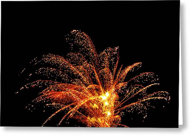 Red Splash Greeting Card by Phill  Doherty