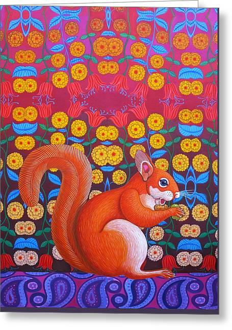 Squirrel Greeting Cards - Red Squirrel Greeting Card by Jane Tattersfield