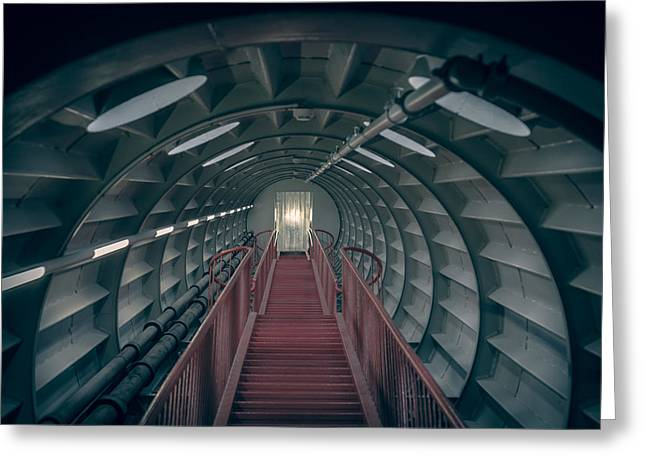 Incline Photographs Greeting Cards - Red stairs Greeting Card by Chris Fletcher