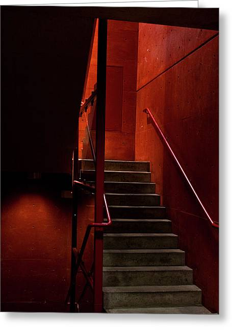 Elena Nosyreva Greeting Cards - Red stairs Greeting Card by Elena Nosyreva