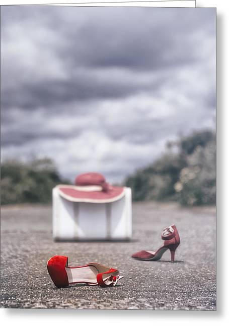 Stilettos Greeting Cards - Red Stilettos Greeting Card by Joana Kruse
