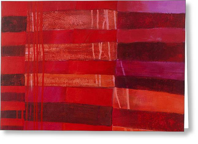 Red Stripes 2 Greeting Card by Jane Davies